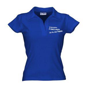 Tommy Fischer - Damen Poloshirt blau