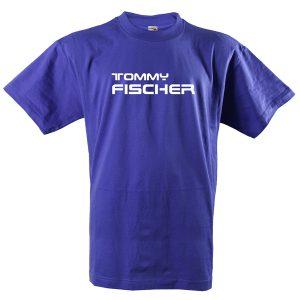 Tommy Fischer - T- Shirt blau