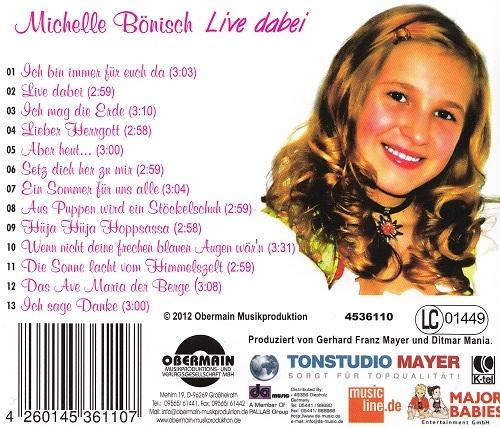 """Michelle Bönisch - Album/CD """"Live dabei"""""""