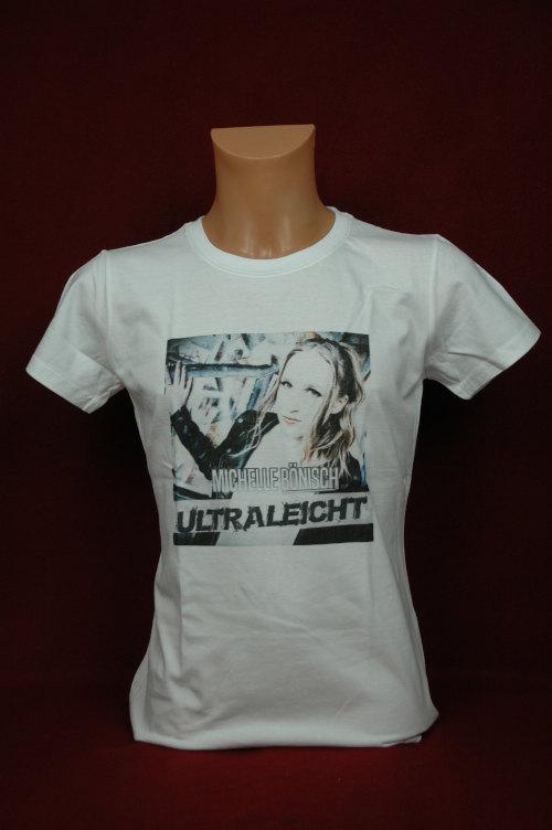 Michelle Bönisch-T-Shirt Weiß  mit Logo / Größe XL